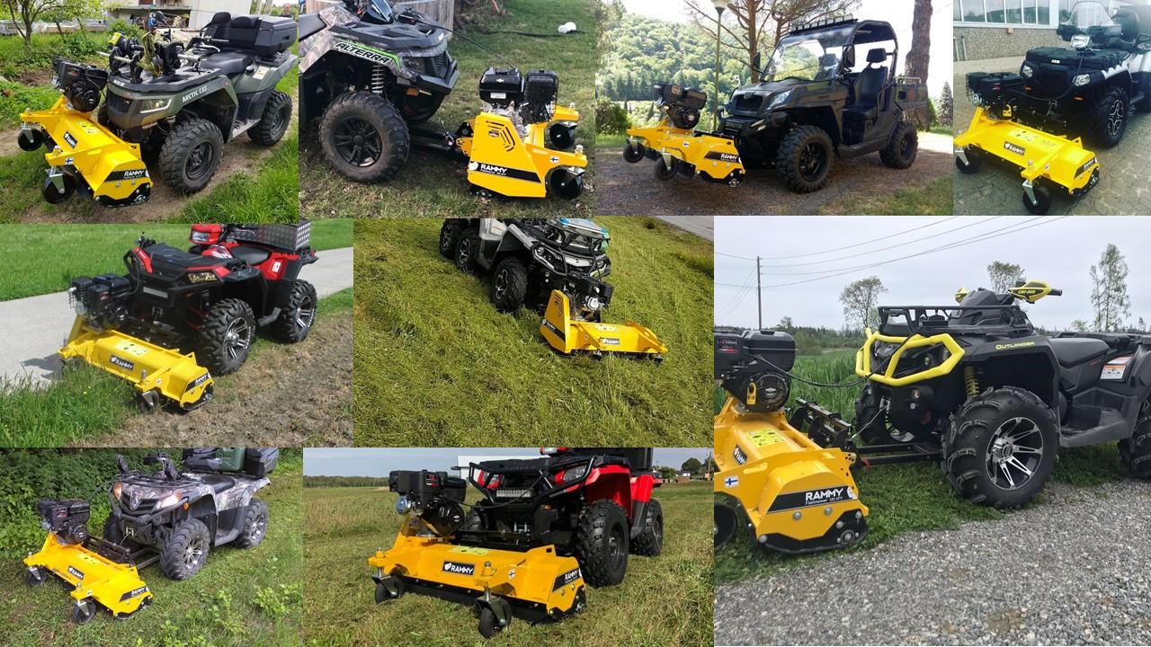 Rammy Flail mower 120 ATV muissa koneissa kuvakooste 1