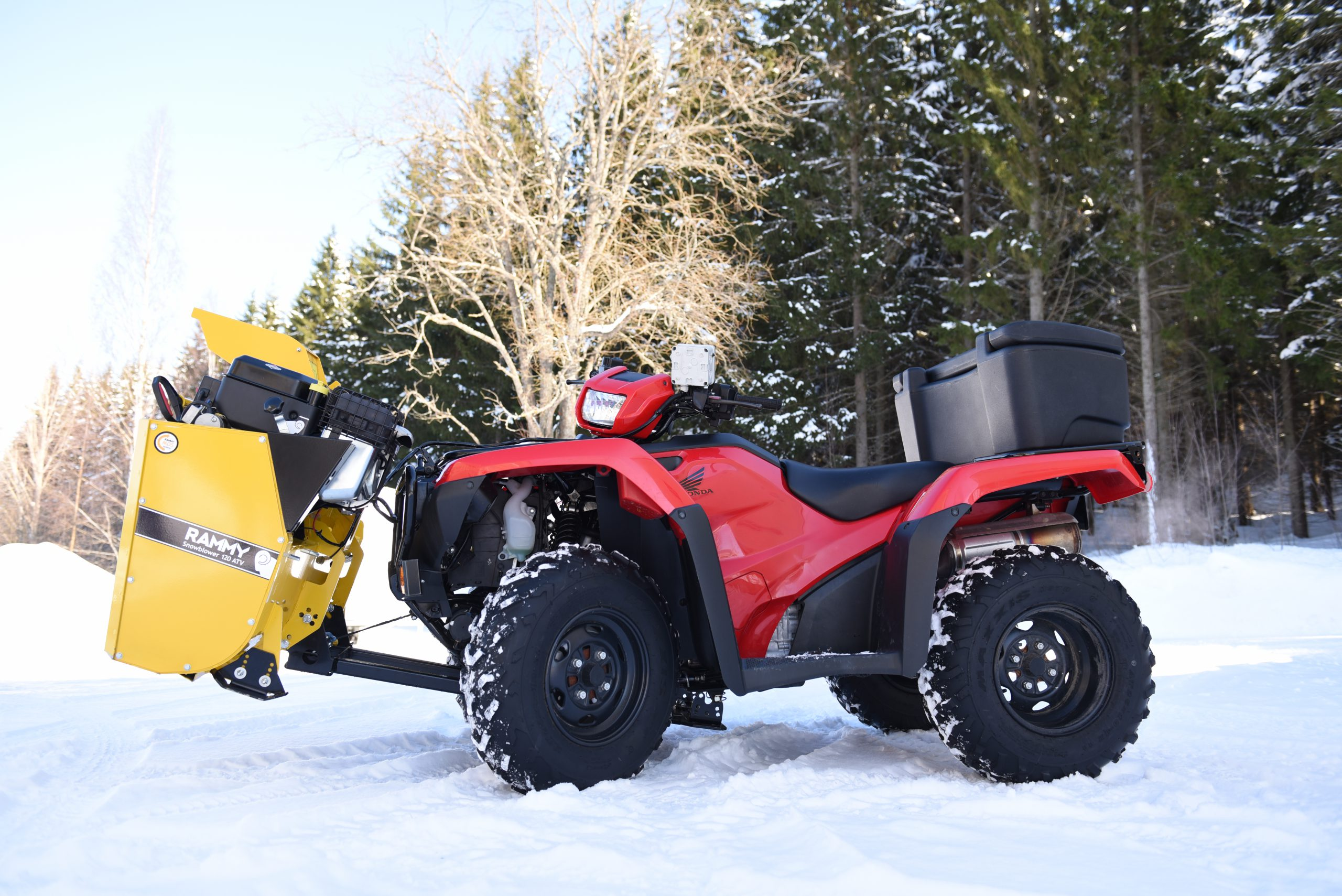 Atv Snow Blower Kits : Rammy snowblower atv